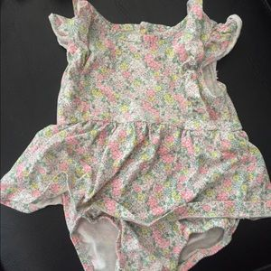 Carter's One Pieces - Baby Girl Carter's Floral Flutter Sleeved Bodysuit